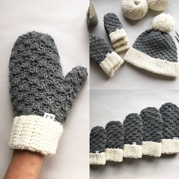 CROCHET PATTERN The Jesse Mittens Crochet Mittens Easy