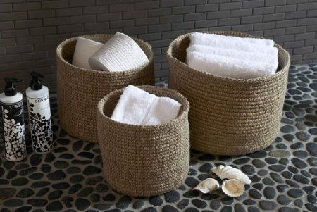 Round Jute Basket: Amazon.co.uk: Kitchen & Home from £15