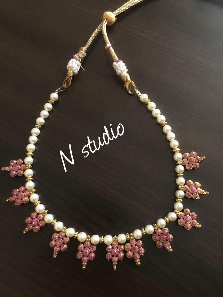 Pearl necklace traditional style #indian #jewellery