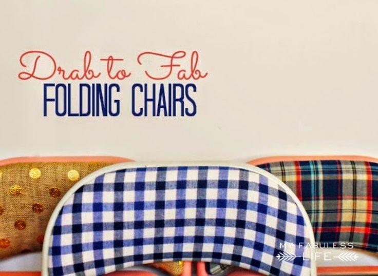 Antic&Chic. Decoración Vintage y Eco Chic: [DIY] Cómo cambiar de imagen unas sillas plegables aburridas