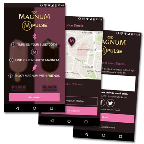 The Magnum M-Pulse app helps Londoners track down discounted ice cream treats - Tesco puts beacons in 270 London stores