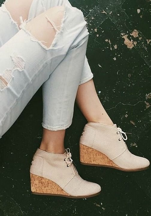 466af29900856 Stylish outfit inspiration. | Shoes! | Shoes, Wedges outfit, Wedges