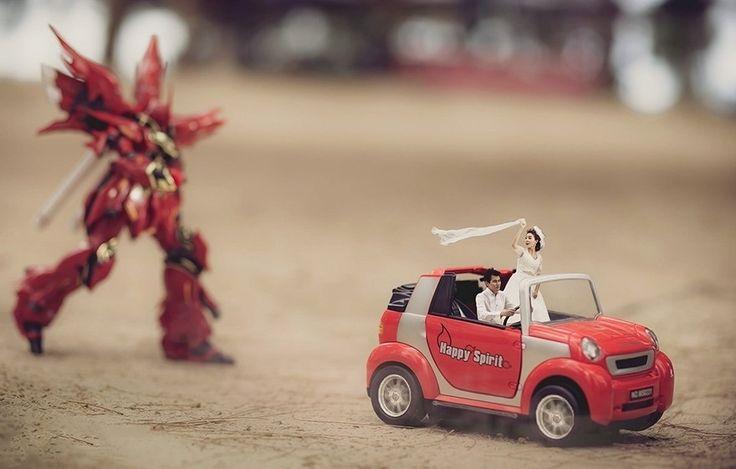 Fotografo transforma casais em miniaturas criativas - Assuntos Criativos