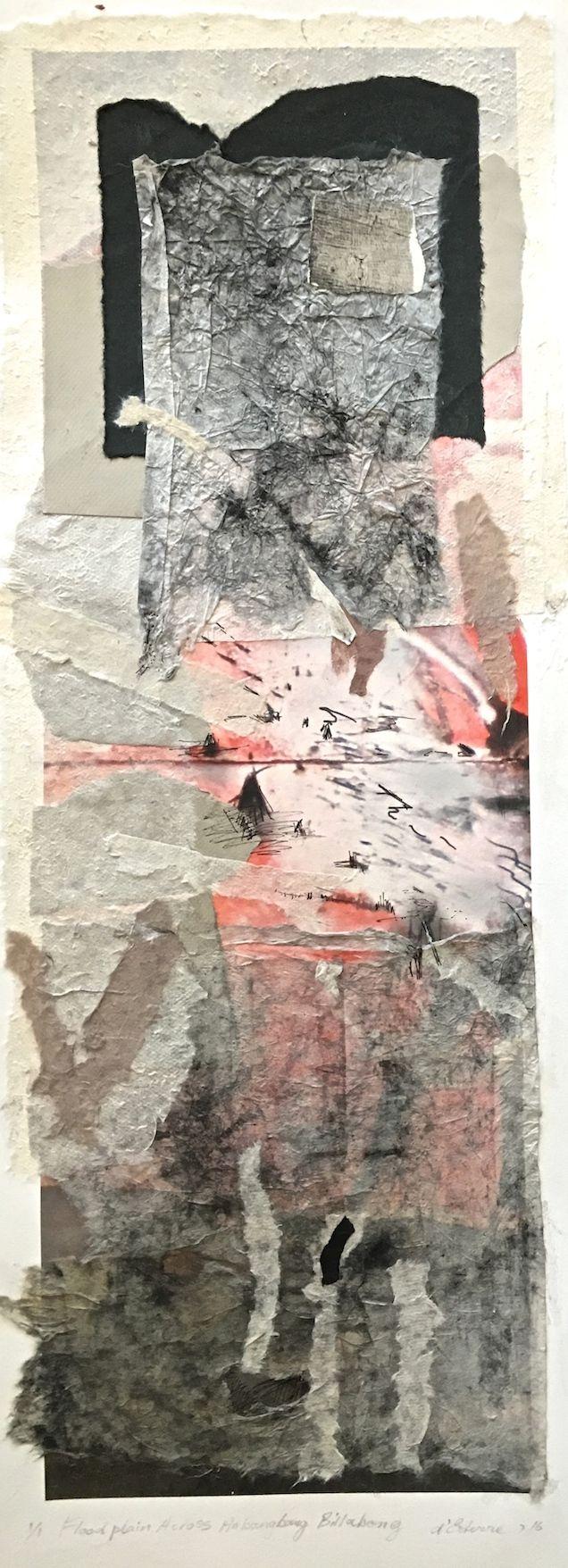 Elaine d'Esterre - Flood Plain Across Anbangbang Billabong, 2017, digital print and collage, 75x25 cm. Also ART BLOG at http://elainedesterreart.com/ and http://www.facebook.com/desterreart/ and http://instagram.com/desterreart/