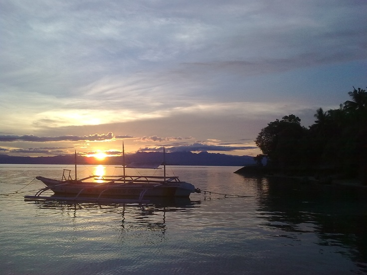 Sunset in the Philippines.  Moal Boal, Cebu.