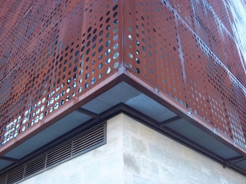 17 best images about pieles on pinterest entry gates for Fachada acero corten