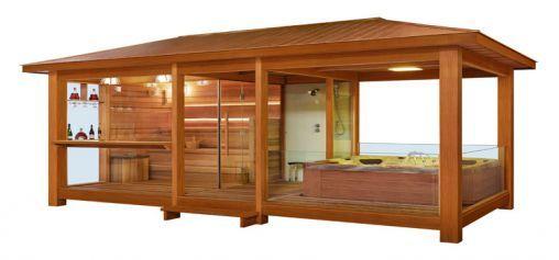 EO-SPA Sauna LT06 rote Zeder 650x350 9kW Vitra Combi