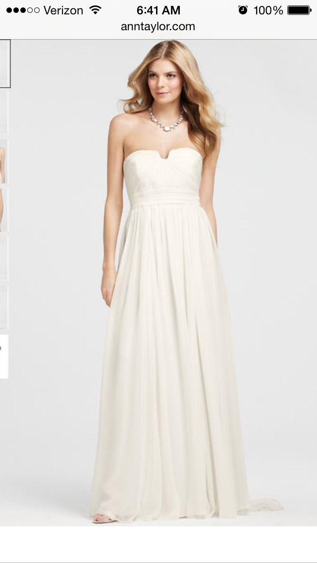 The 25 best ann taylor wedding dresses ideas on pinterest art ann taylor vintage silk strapless wedding dress size 8 wedding junglespirit Images