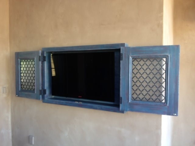 Tv Cabinet With Retractable Doors Without Doors Retracting Or Folding Doors A Number Of Options And Our Outdoor Tv Cabinet Tv Wall