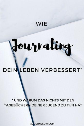 Tagebuch schreiben - journaling - oder einfach nur schreiben: egal ist, wie Du es nennst. Wichtig - für Dein Wohlbefinden - ist, dass Du es tust.   modernslow.com
