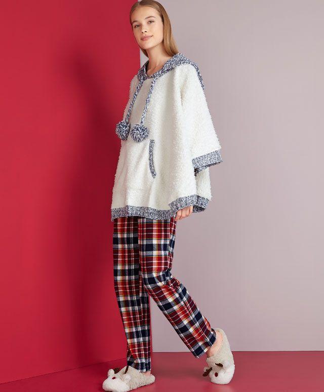 Poncho capuche tricot - OYSHO