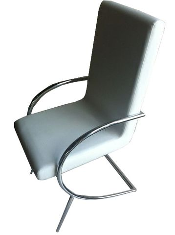"""The Canal chair is a simplistic modern piece that adds a structured but classy touch to any dining area or office.  Dimensions: 20"""" x 19"""" x 36""""H"""