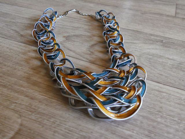 A cool-looking necklace made out of #upcycled Nespresso capsules: http://bit.ly/1mQP6co