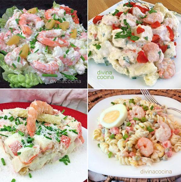 Aquí tienes una selección de ensaladillas marineras fáciles para tus menús de cada día o para hacer algo especial en reuniones de invitados.