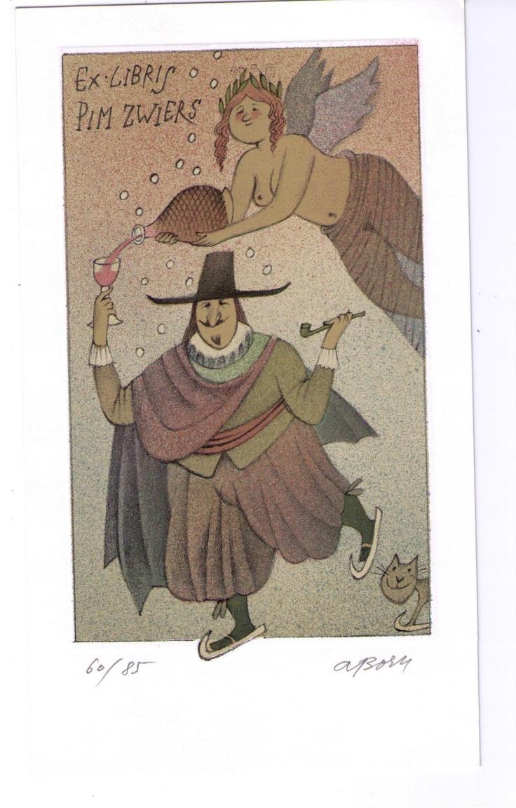 Adolf Born, Ex Libris for Pim Zwiers