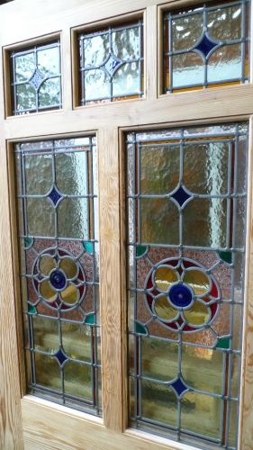... Style 7 Panel Stained Glass Front Door - Stained Glass Doors Company