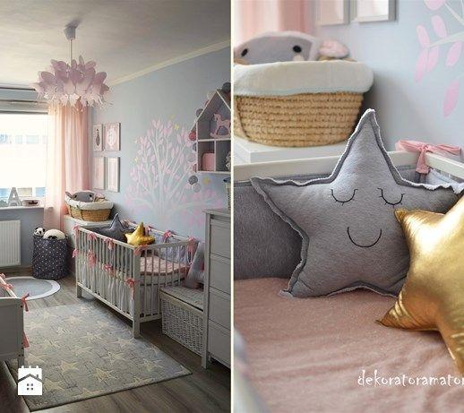 Pokój dla dziewczynek - Pokój dziecka, styl skandynawski - zdjęcie od…