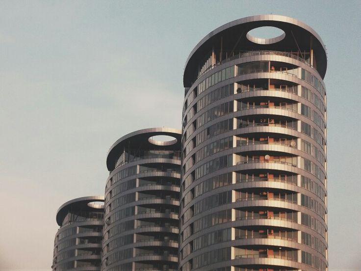 three towers, bratislava. #slovakia #architecture