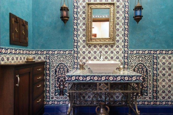Восточный интерьер деко   Переделка ванной комнаты и туалета ...