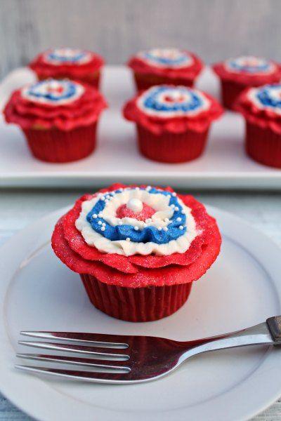 Ruffled Patriotic Cupcakes