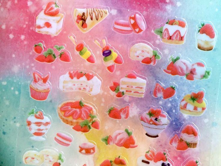Autocollant fraise fraise thème gâteau aux fraises déco autocollant fraise dessert recettes autocollant fraise partie nourriture délicieuse icône par StickersKingdom sur Etsy https://www.etsy.com/be-fr/listing/481165303/autocollant-fraise-fraise-theme-gateau