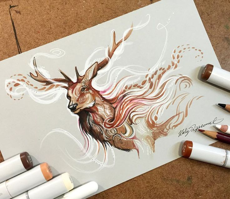 Watercolor Pencil Animals By Katy Lipscomb (Interview) | Bored Panda