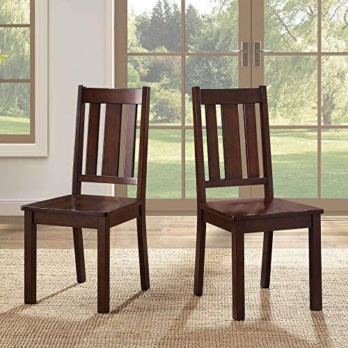 Wood Chairs Set Of 2 With Contoured Seat Lightweight Wood Comfy