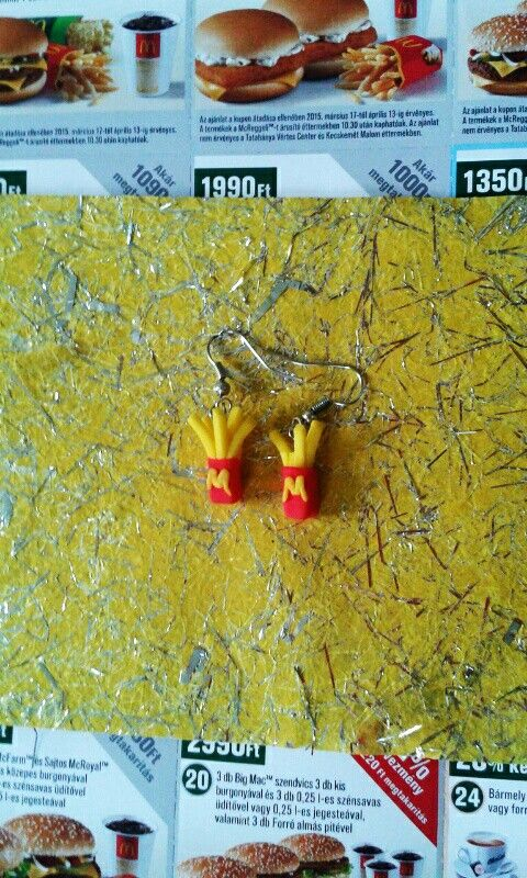 Mc's Donalds FIMO earring (My father)