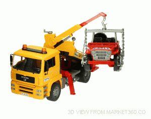 MAN TGA Breakdown Truck with Cross Country Vehicle Bruder 02750