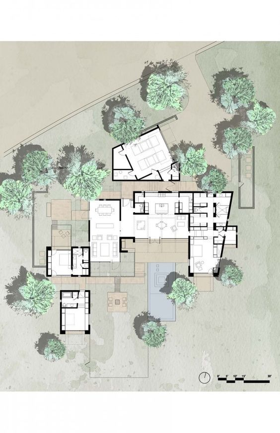 The brown residence lake arquitectura pisos y planos for Belmonte builders floor plans