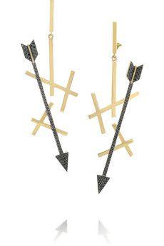Elena Votsi Eros 18-karat gold diamond earrings | NET-A-PORTER