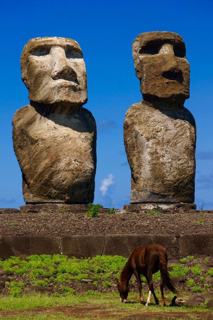 Ahu Tongariki, île de Pâques / Ahu Tongariki, Easter island