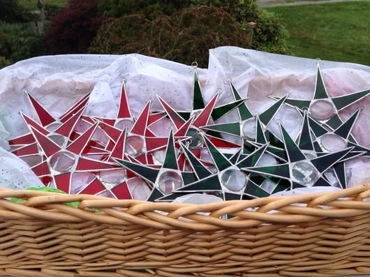 Christmas Stars - by The Meadows Stained Glass Studio
