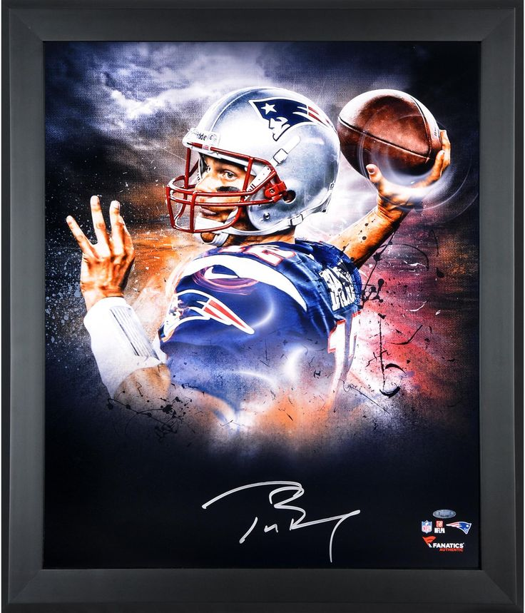 "Tom Brady New England Patriots Framed Autographed 20"" x 24"" In Focus Photograph"