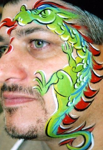 VERY impressive dragon face paint design!!
