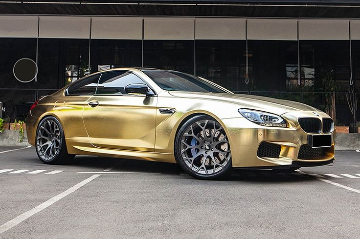 Bmw M6 In Gold Chrome Bmw M6 Bmw Convertible Bmw