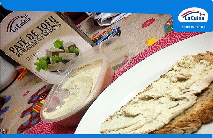 Una receta ideal para vegetarianos que nos manda nuestro amigo @keltoi_runner: Paté de Tofu de #LaCuina con pan de cereales. ¡Qué aproveche! #LaCuinaTeCuida