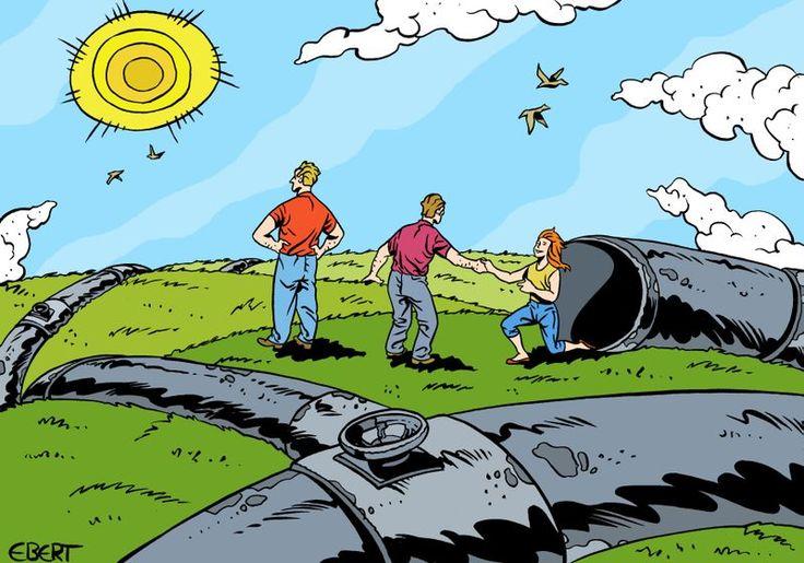 Cartoon Over Energie Sustainability Green Cartoon