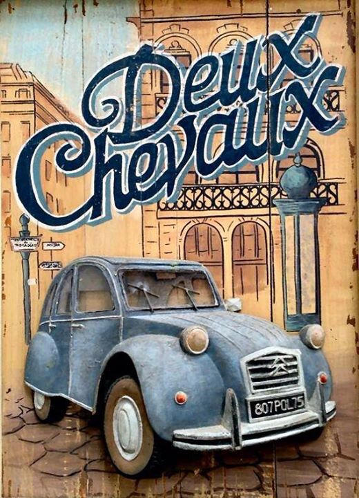 Citroneta-Chile. Gorgeous 2cv poster.