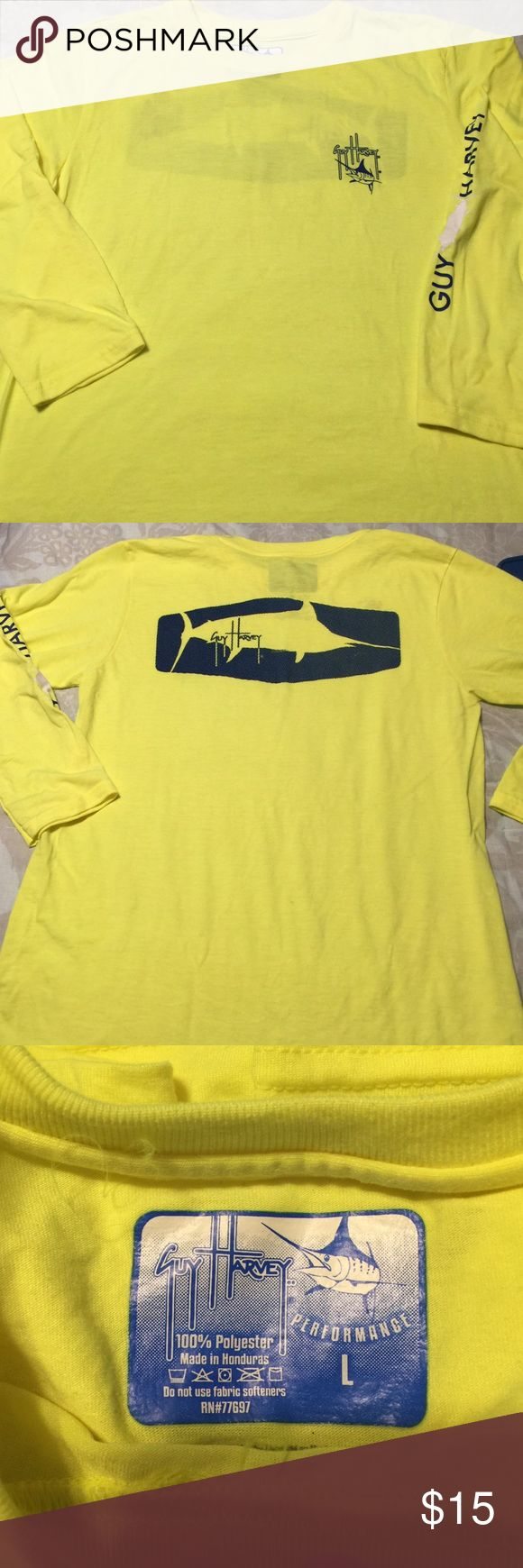 Guy Harvey T-Shirt Boys Guy Harvey long sleeve tee. Brand New. Got for Christmas and too little. Fits more like a Medium. There were no tags as it was ordered online. Shirts & Tops Tees - Long Sleeve