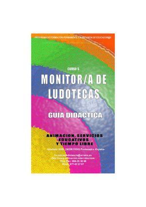 Guia Didactica curso a distancia Monitor de Ludotecas