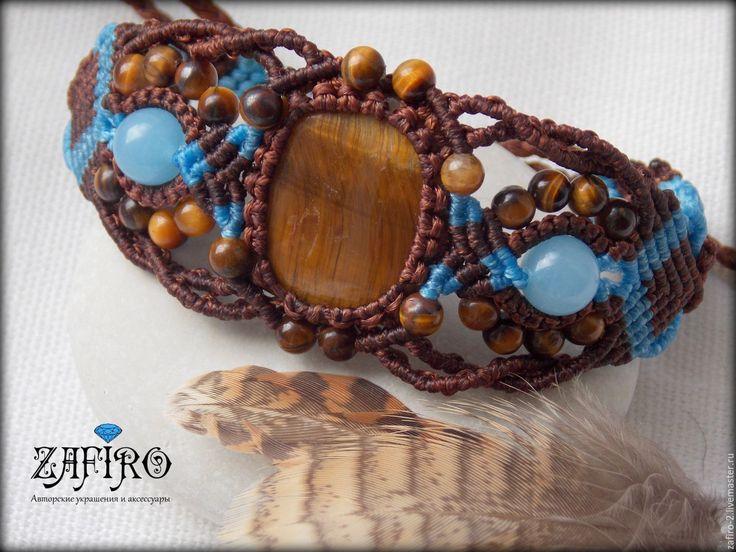 """Купить Плетеный браслет """"Лилуай"""", натуральные камни, макраме, бохо, этно - Макраме, макраме украшения"""