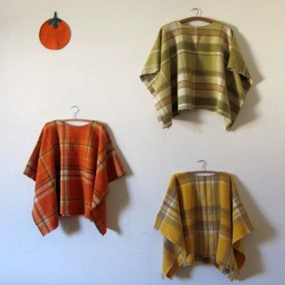 Recycle old blankets into delightful warm ponchos. MAKE THESE FOR THE HOMELESS SHELTERS TO HAND OUT JB