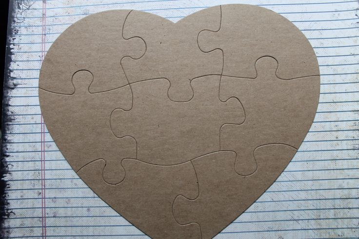 Extra Large 8 Piece Heart Shaped Jigsaw Puzzle by studioCee