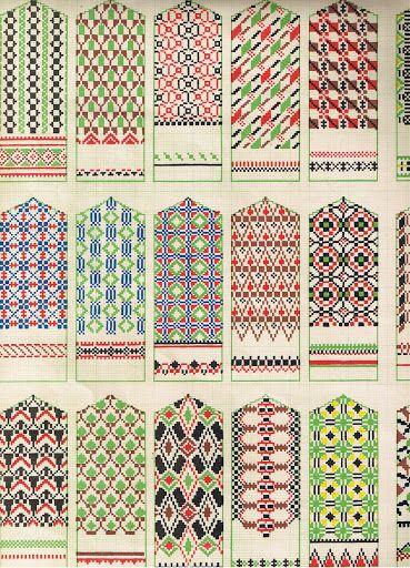 Vackra mönster till vantar