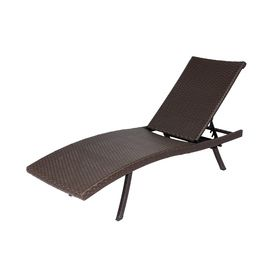 Patio chaise lounge chaise lounges and allen roth on for Allen roth steel patio chaise lounge