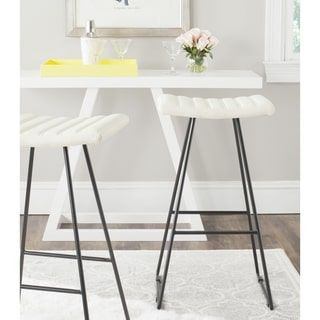 Shop for Safavieh Mid-Century Dining Akito Modern Cream 30-inch Bar Stool (Set of 2). Get free shipping at Overstock.com - Your Online Furniture Outlet Store! Get 5% in rewards with Club O! - 17507144