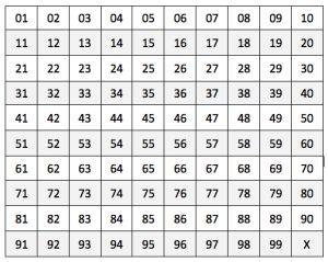 bingo nummerborden