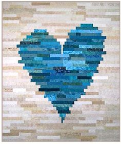 Have a Heart quilt pattern by J. Michelle Watts. Jelly roll friendly.                                                                                                                                                                                 More