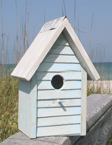 Shop Decorative Beach Cottage Styles of Birdhouses at Coastal Style Gifts! Our feathered friends want to live in a beach cottage too! This handcrafted beach cottage birdhouse is hand-painted and distr                                                                                                                                                     More